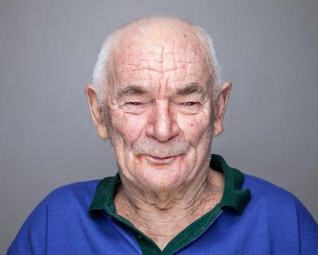 portrait man: Closeup portrait of an elderly man Stock Photo