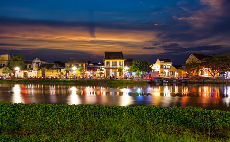 Historic city of Hoi An in Vietnam at night Stock Photo