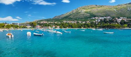 クロアチアのドゥブロヴニクに近いに位置する海岸沿い町 Mliny 写真素材