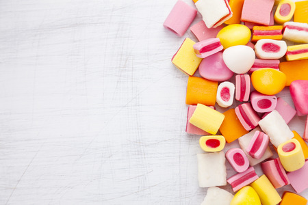 copy space: Delicious colorful sweet candy with copy space Stock Photo