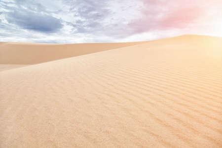 ne: Famous White sand dunes in Mui Ne, Vietnam Stock Photo