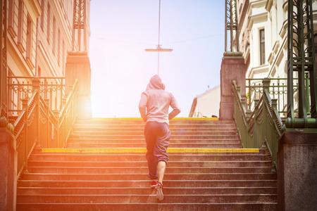 Outdoor-Gesundheits- und Fitness-Konzept in der Stadt