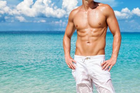 Prendi il corpo perfetto spiaggia per l'estate Archivio Fotografico - 63947382