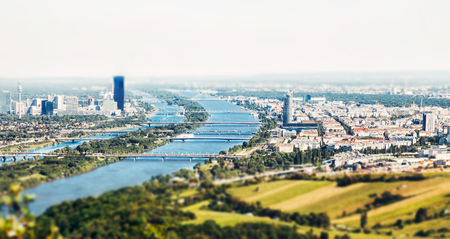 Panoramic view of Vienna, Austria from Kahlenberg hill