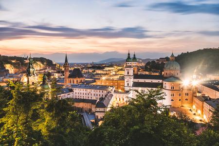 wolfgang: Panoramic view of beautiful city of Salzburg in Austria