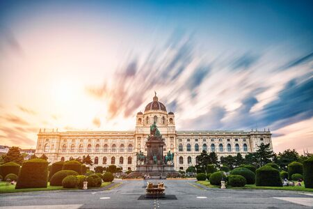 Museum of natural history Vienna Austria at sunset