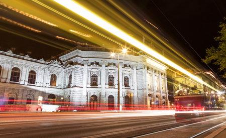 Famous Burgtheater in Vienna Austia at night