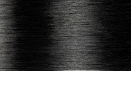 Closeup on luxurious straight glossy black hair Banque d'images