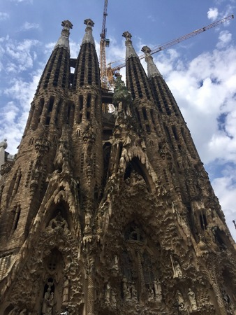 Sagrada Familia - Entrada de la Nativitat (Barcelona, ??Spain) Stock Photo