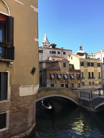 lamp light: Views of canals in Venice - Gondolas in Venice (Venice, Italy)