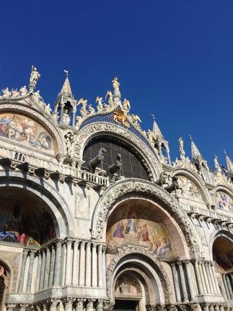 alte: St. Marks Basilica - St. Marks Square (Venice, Italy) Stock Photo
