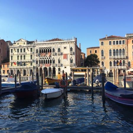 Canal Grande (베니스, 이탈리아)에서 곤돌라 주차