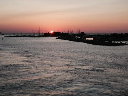 Sunset in Favignana (Sicily, Italy)