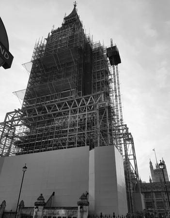 Work in progress in London - Clock tower (London, Europe)