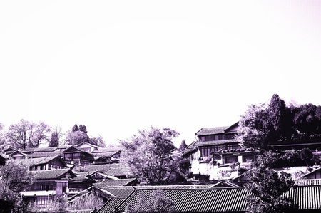 Chinese roofs in the Old Town of Lijiang (Yunnan, China) Editorial