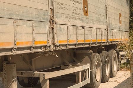 TIR containers - Transport details (Pesaro, Italy, Europe) Archivio Fotografico