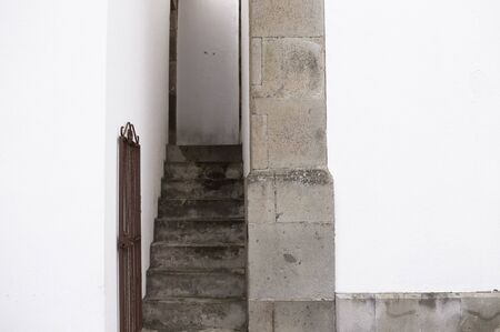 A narrow stairway between two buildings (Madeira, Portugal)