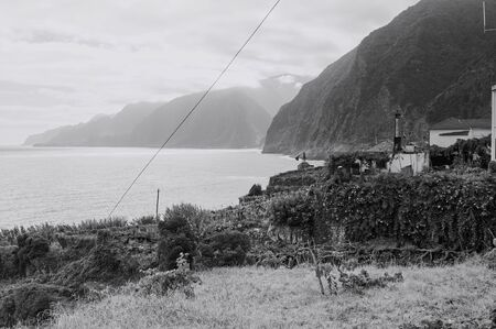 Panoramic view of a rural place near the Atlantic Ocean (Madeira, Portugal, Europe)