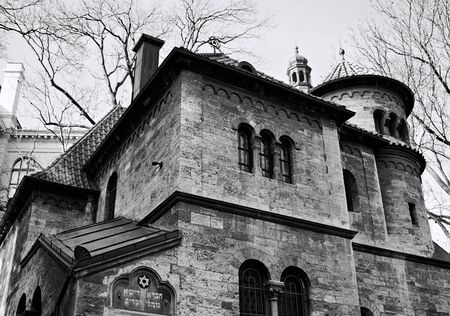 The exterior of Klausen synagogue in the jewish quarter in Prague (Czech Republic, Europe)