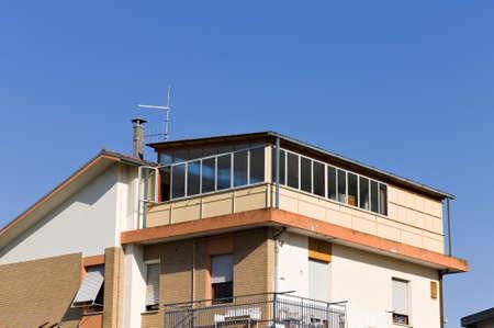 A veranda attic of a vintage house (Pesaro, Italy, Europe)