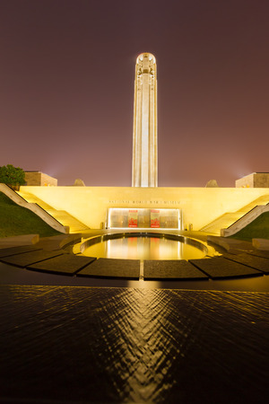 groundbreaking: Kansas City, Missouri, USA on July 24th, 2015.  The Liberty Memorial is a memorial to the soldiers who died in World War I and houses The National World War I Museum, as designated by the United States Congress in 2004. Groundbreaking commenced November 1 Editorial