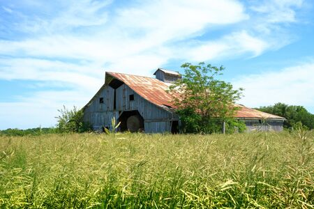 midwest: A hay barn in a Midwest Field