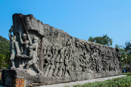 thailand air force and army and scout monument in world war