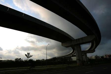 silueta curva ferrocarril  Foto de archivo - 241320