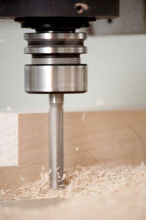 frezowanie: do cięcia drewna z frezarek CNC Zdjęcie Seryjne
