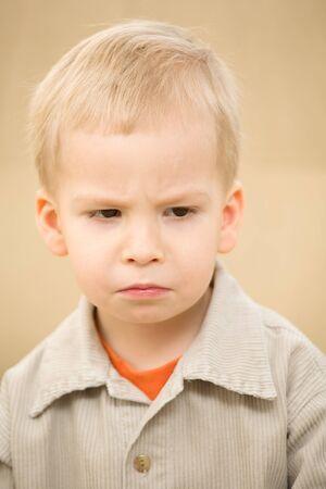 corduroy: Greif ragazzo in una camicia di velluto Archivio Fotografico