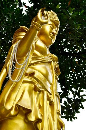 molded: gold molded figure