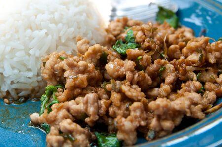 Basil fan is thai food photo