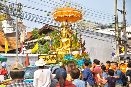 song kan  festival in chiang mai