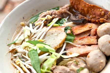 koy: Koy tea, thai food Stock Photo