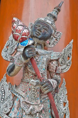 Thai art in temple of thailand photo