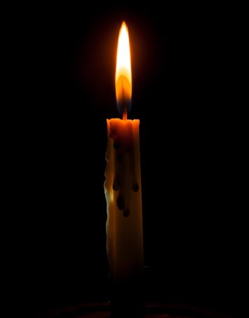 Candle on A black background Stock Photo - 13548949