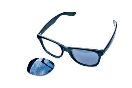 A pair of sunglasses  on white blackground Stock Photo - 13598508