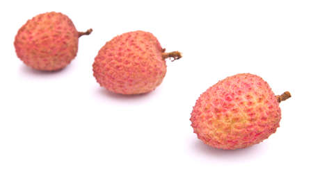 lychee: Lychee isolated on whitebackground Stock Photo