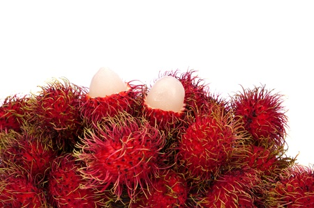 Rambutan fruit isolated on white background  photo