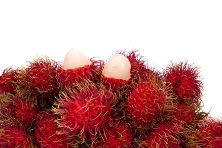 rambutan: Rambutan fruit isolated on white background  Stock Photo