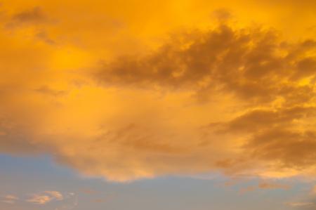 Yellow cloud on sky Stock Photo - 13982578