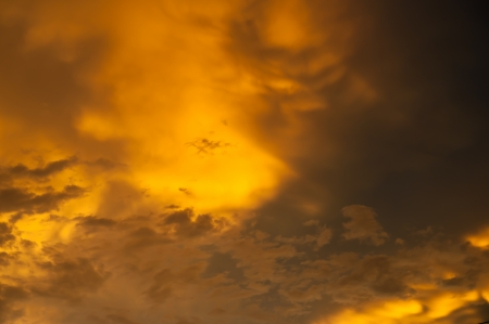 Yellow cloud on sky Stock Photo - 13982589