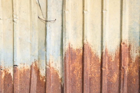 The vintag yellow rusty grunge iron textured background Stock Photo - 14125127