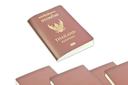 Thailand passport isolated on white background  photo