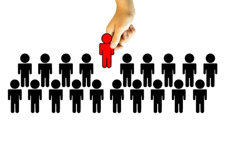 Choosing the Right Person employee for business recruitment Stock Photo - 14317218