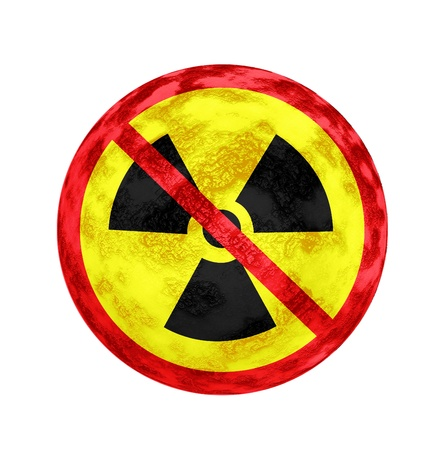 No Nuclear Symbol and texture Stock Photo - 14354753