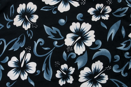 hibiscus flower seamless fabric textile
