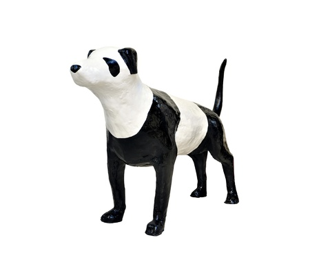 Sculpture dog ,made from paper mache Stock Photo - 14509840
