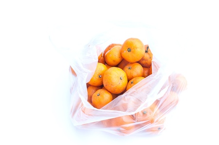 jhy: kumquat close up isolated on white