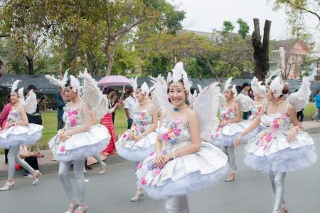 CHIANG MAI,THAILAND-FEB.2 : 37th Anniversary Chiang Mai Flower Festival, Unidentified woman in parade annual Chiang Mai flower festival. on Feb.2, 2013 in Chiang Mai,Thailand. Stock Photo - 17742286